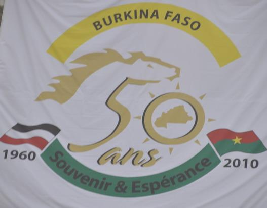 Logo du cinquantenaire du Burkina