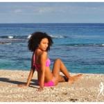 Bikini Rose tressé - L'effet Péi Réunion