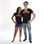 Couple - Tee-shirt homme et femme Flamboyant - L'effet Péi Réunion