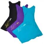 Robes Straply noir, violet et bleu