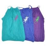 Top Leane - turquoise bleu violet - L'effet Péi