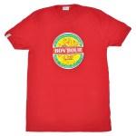 T-shirt Bon'Bour Rouge - L'effet Péi Réunion