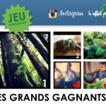 Les gagnants du jeu L'effet Péi sur Instagram