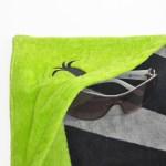 Poche de la serviette de bain L'effet Péi