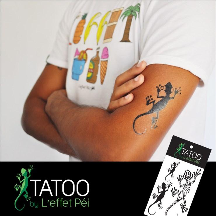 Tatoo by L'effet Péi - Tatouage Margouillat