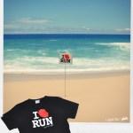 T-shirt I Love Run - île de la Réunion 974