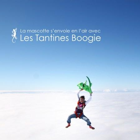 La mascotte L'effet Péi en l'air avec les tantines Boogie