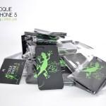 Coque de protection pour iPhone 5 - Margouillat vert L'effet Péi