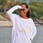 T-shirt femme Hippie - manches longues - Réunion Island