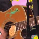 L'auto-collant margouilat classic sur la guitare de Kissamilé
