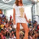 Robe Julie blanche - Défilé L'effet Péi - Eco Beach Tennis 2014