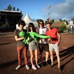 Le groupe Findlay et la mascotte margouillat L'effet Péi