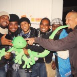 Warfield Lindigo avec la mascotte - Sakifo 2014