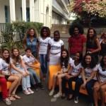 Au Collège Juliette Dodu de Saint-Denis - Les candidats Star Music Collège ainsi qu'Audrey Dardenne et Zorro Chang