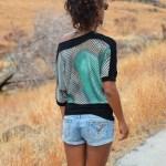 T-shirt femme Rainbow - Savane île de la Réunion