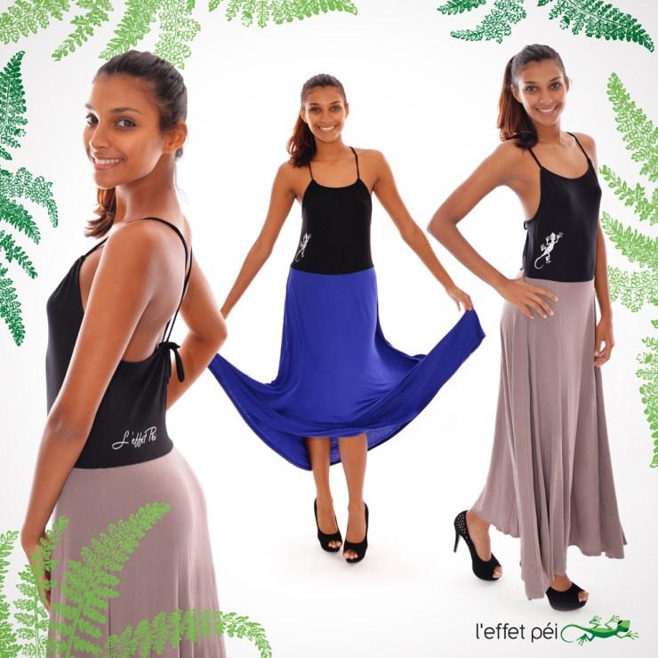 Robe longue Lana - Bicolore