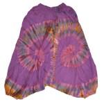Sarouel Tie & Dye L'effet Péi Femme Violet