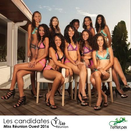 Les candidates à l'élection de Miss Réunion Ouest 2016