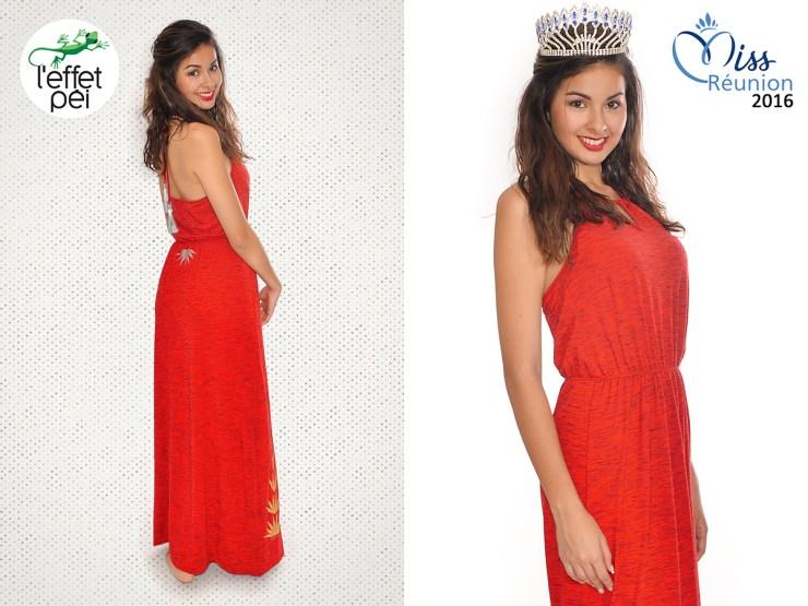 Ambre Nguyen Miss Réunion 2016 -Robe longue Again Bambou