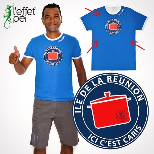 Eddy - T-shirt ici c'est Caris ! île de la Réunion