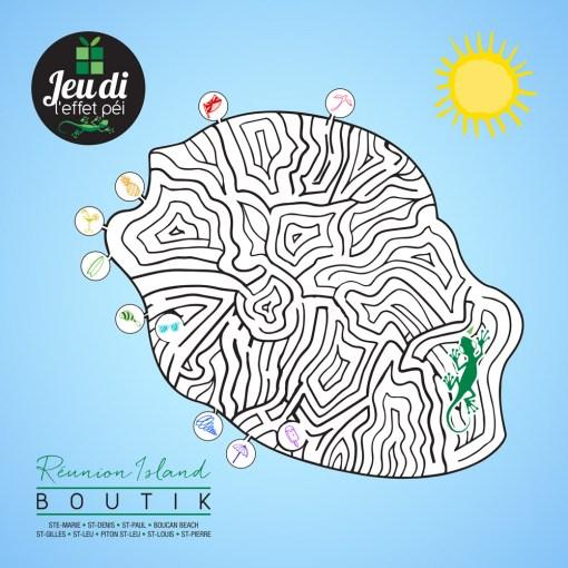 Jeudi Péi - Labyrinthe Carte de la Réunion