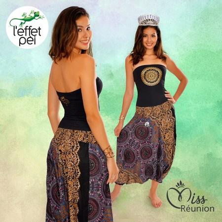 Ambre Nguyen Miss Réunion 2016 - Sarouel 2be et Top Bando Nia Mandala