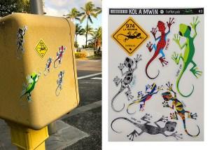 Stickers Margouillats - Kol a Mwin 3 - Saint-Denis Réunion