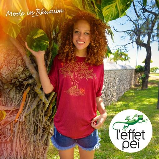 T-shirt long femme Tia Baobab - Saint-Paul île de la Réunion