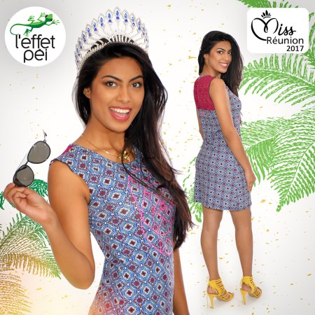 Audrey Chan Pao Kan - Miss Réunion 2017 - Robe courte Kaynie