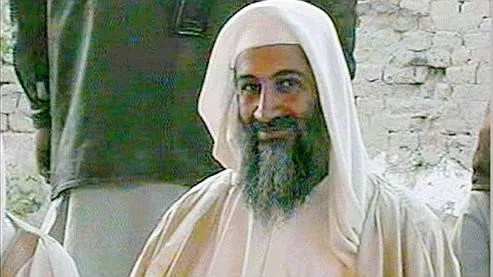 This television image broadcast on Qatar's Al-Jazeera TV, is said to show Osama bin Laden, at the wedding of his son. The ceremony took place on Tuesday, Jan. 9, 2001 in the southern Afghan city of Kandahar. (AP Photo/Al-Jazeera/TV)
