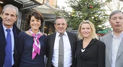 Thierry Mariani lors d'une réunion avec les têtes de listes départementales de l'UMP, le 30 décembre dernier à Aix-en-Provence.
