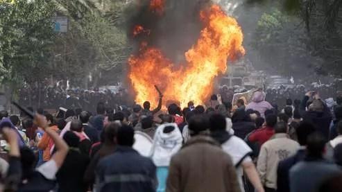 Les manifestations ont continué samedi au Caire.