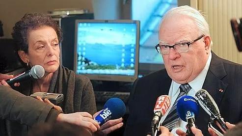 Lyne Cohen-Solal et Pierre Mauroy, vendredi, à Lille.