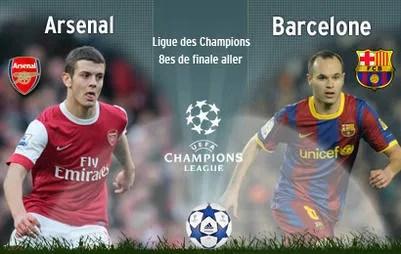 Arsenal et Barcelone s'affrontent mercredi en Ligue des Champions