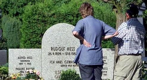 Vue du cimetière de Wunsiedel, où le tombeau de Rudolf Hess a été détruit.