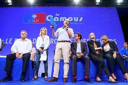 Jean-François Copé, Frédéric Lefebvre, Nathalie Kosciusko-Morizet, vendredi à Marseille lors de l'inauguration de l'édition 2011 du campus de l'UMP.