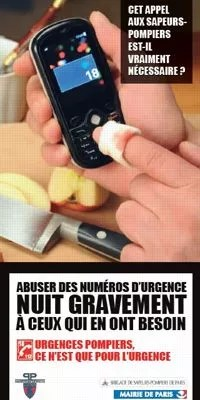Les pompiers de Paris ont lancé une campagne contre les appels inutiles. DR