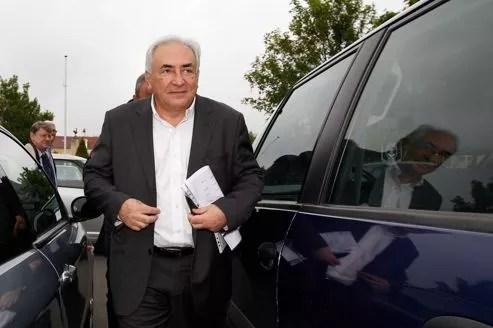 Dominique Strauss-Kahn, le 6 mai à Sarcelles. L'ex-patron du FMI espère voir annuler la qualification de «proxénétisme aggravé».