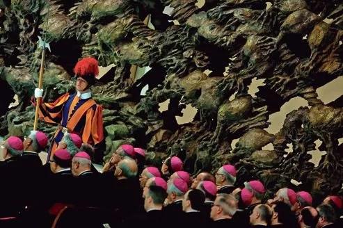 Des cardinaux, au Vatican, pendant une audience du pape Benoît XVI au mois de juin.