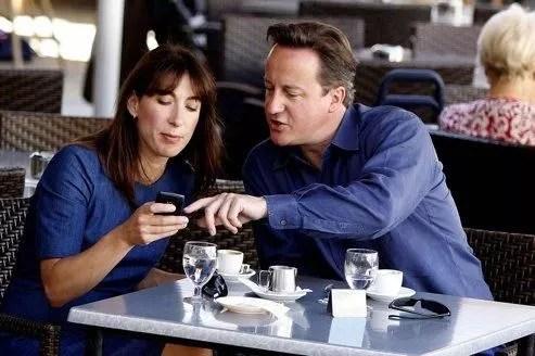 David Cameron et son épouse, à Majorque, mardi.