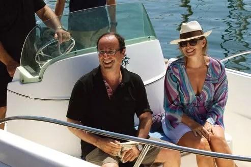 François Hollande et Valérie Trierweiler lors d'une sortie en mer à l'île de Porquerolles, la semaine dernière.