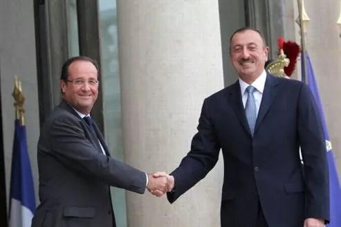Le président de l'Azerbaïdjan Ilham Aliev a été reçu mardi à l'Élysée.