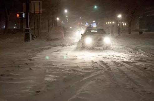 La circulation dans New York a été particulièrement difficile samedi.