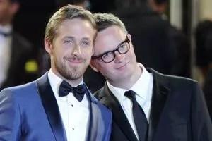 Ryan Gosling et Nicolas Winding Refn lors de la présentation de <i>Drive</i> au Festival de Cannes 2011.