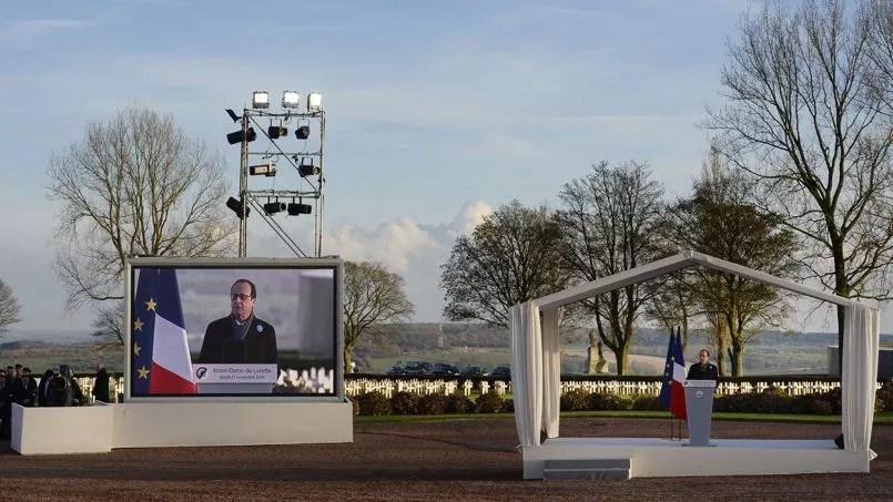 Dans son discours marquant le 96e anniversaire de l'Armistice de 1918, le président a lancé un message d'espérance relativisant «les difficultés» actuelles au regard «des épreuves bien plus terribles» du passé.