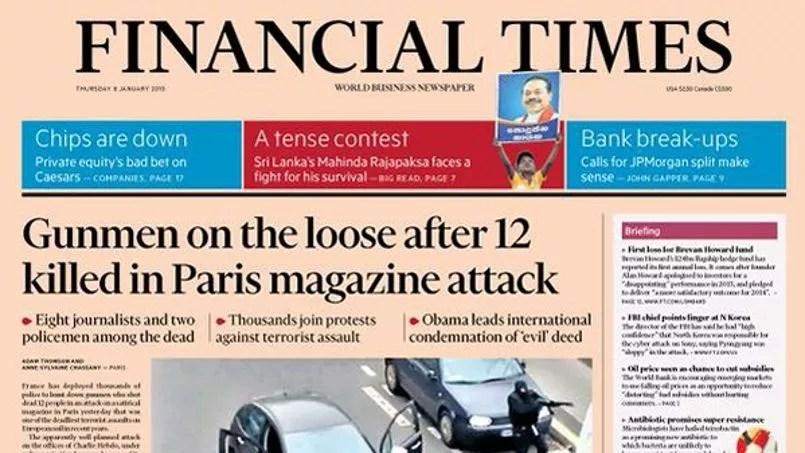 Une du <i>Financial Times </i>© Twitter/FT