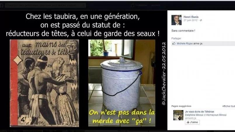 Capture d'écran du compte Facebook d'Henri Bunis.