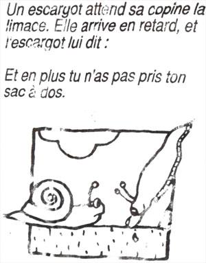 snail joke in French Christmas bonbon. Copyright LeFrancoPhoney blog.
