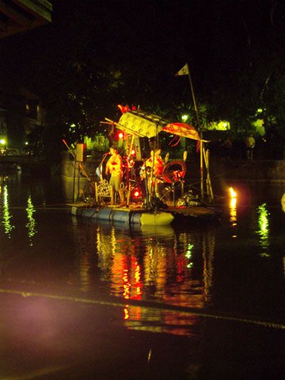 Floating band on a canal in Annecy