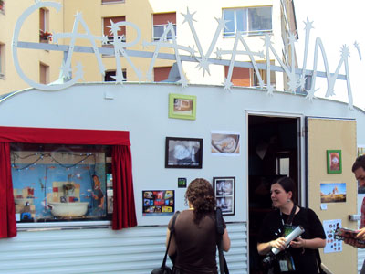 <A cool caravan at the International Animation Festival in Annecy, France >